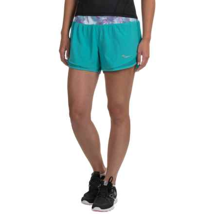 Saucony Impulse Shorts - Built-In Briefs (For Women) in Barbados - Closeouts