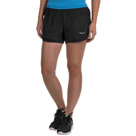 Saucony Impulse Shorts - Built-In Briefs (For Women) in Black - Closeouts