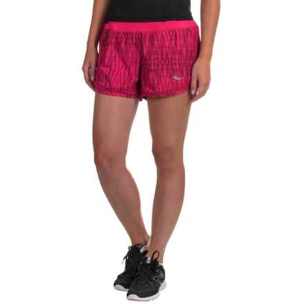 Saucony Impulse Shorts - Built-In Briefs (For Women) in Raspberry Beret - Closeouts