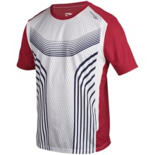 Saucony Inferno FX Shirt - UPF 30+, Short Sleeve (For Men) in White/Racer Red - Closeouts