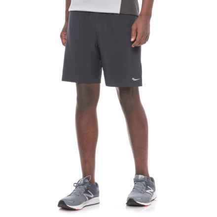 Saucony Interval 2-1 Shorts - Built-in Liner (For Men) in Black - Closeouts