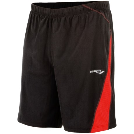 Saucony Interval 2-1 Shorts - Inner Compression Short (For Men) in Black/Strong Red