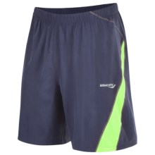 Saucony Interval 2-1 Shorts - Inner Compression Short (For Men) in Navy/Livewire - Closeouts