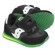 Saucony Jazz Crib Sneakers - Leather (For Infants) in Black/Green - Closeouts