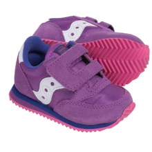 Saucony Jazz Crib Sneakers - Leather (For Infants) in Pink/Purple - Closeouts