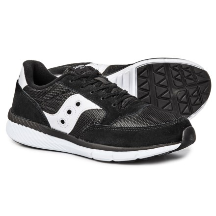 454019443 Saucony Jazz Lite Sneakers (For Big Boys) in Black - Closeouts