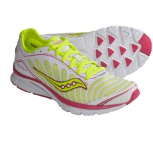Saucony Kinvara 3 Running Shoes (For Women) in White/Citron/Pink - Closeouts