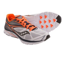 Saucony Kinvara 4 Running Shoes (For Men) in White/Navy/Orange