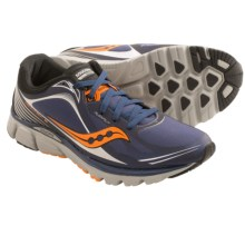 Saucony Kinvara 5 RunShield Running Shoes (For Men) in Navy/Viziorange - Closeouts