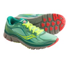Saucony Kinvara 5 RunShield Running Shoes (For Women) in Green/Citron/Pink - Closeouts