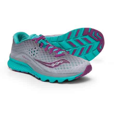 Saucony Kinvara 8 Running Shoes (For Women) in Grey/Tea/Purple - Closeouts