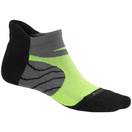 Saucony Kinvara No-Show Tab Socks - Below the Ankle (For Men and Women) in Black