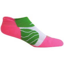 Saucony Kinvara No-Show Tab Socks - Below the Ankle (For Men and Women) in Green/Pink - Closeouts