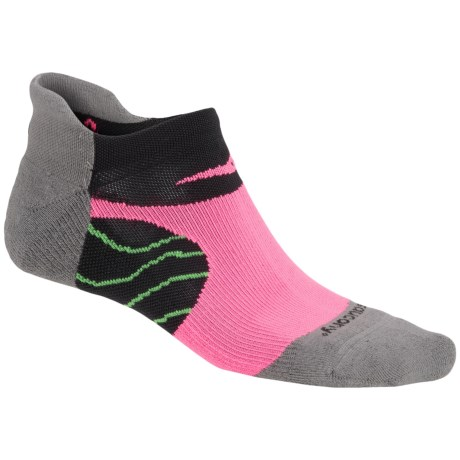 Saucony Kinvara No-Show Tab Socks - Below the Ankle (For Men and Women) in Grey