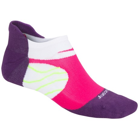 Saucony Kinvara No-Show Tab Socks - Below the Ankle (For Men and Women) in Krush