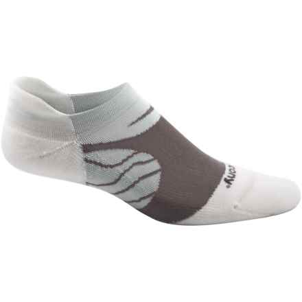 Saucony Kinvara No-Show Tab Socks - Below the Ankle (For Men and Women) in White - Closeouts