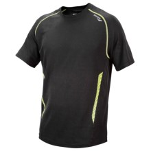 Saucony Kinvara Shirt - UPF 40-50+, Short Sleeve (For Men) in Black/Livewire - Closeouts
