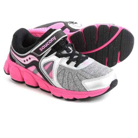 Saucony Kotaro 3 A/C Shoes (For Little and Big Girls) in Silver/Black/Pink - Closeouts