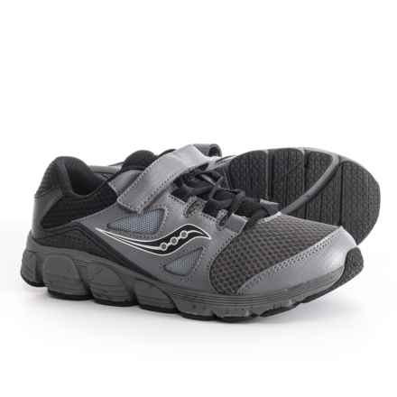 Saucony Kotaro 4 A/C Running Shoes (For Boys) in Black/Grey - Closeouts