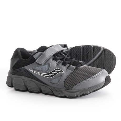 Saucony Kotaro 4 A/C Running Shoes (For Boys) in Black/Grey