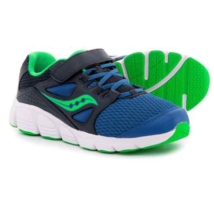 Saucony Kotaro 4 A/C Running Shoes (For Boys) in Navy/Green - Closeouts