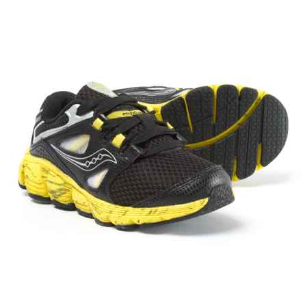 Saucony Kotaro 4 Running Shoes - Lace-Ups (For Boys) in Black/Yellow - Closeouts
