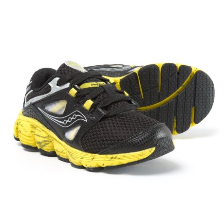 Saucony Kotaro 4 Running Shoes - Lace-Ups (For Boys) in Black/Yellow