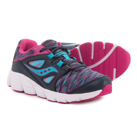 Saucony Kotaro 4 Running Shoes - Lace-Ups (For Girls) in Navy/Multi