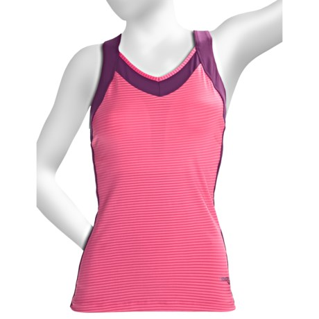 Saucony LX Tank Top - Shelf Bra (For Women) in Nimble Green