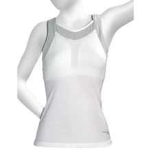 Saucony LX Tank Top - Shelf Bra (For Women) in White/Light Grey - Closeouts
