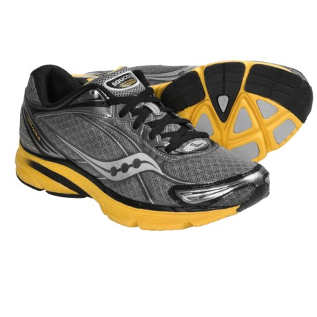 Saucony Mirage 2 Running Shoes (For Men) in Grey/Yellow