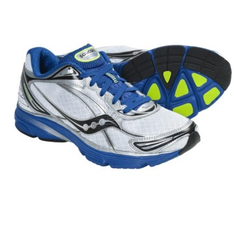 Saucony Mirage 2 Running Shoes (For Men) in White/Blue/Citron