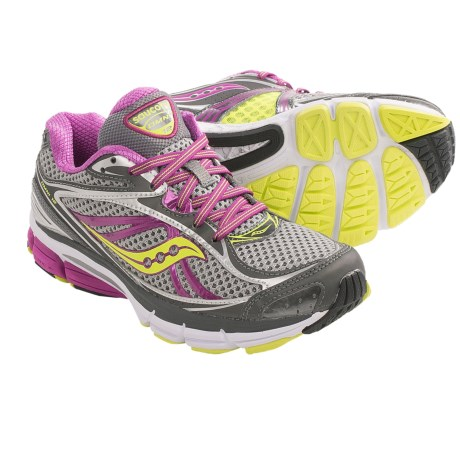 Saucony Omni 12 Running Shoes (For Women) in Grey/Purple/Citron