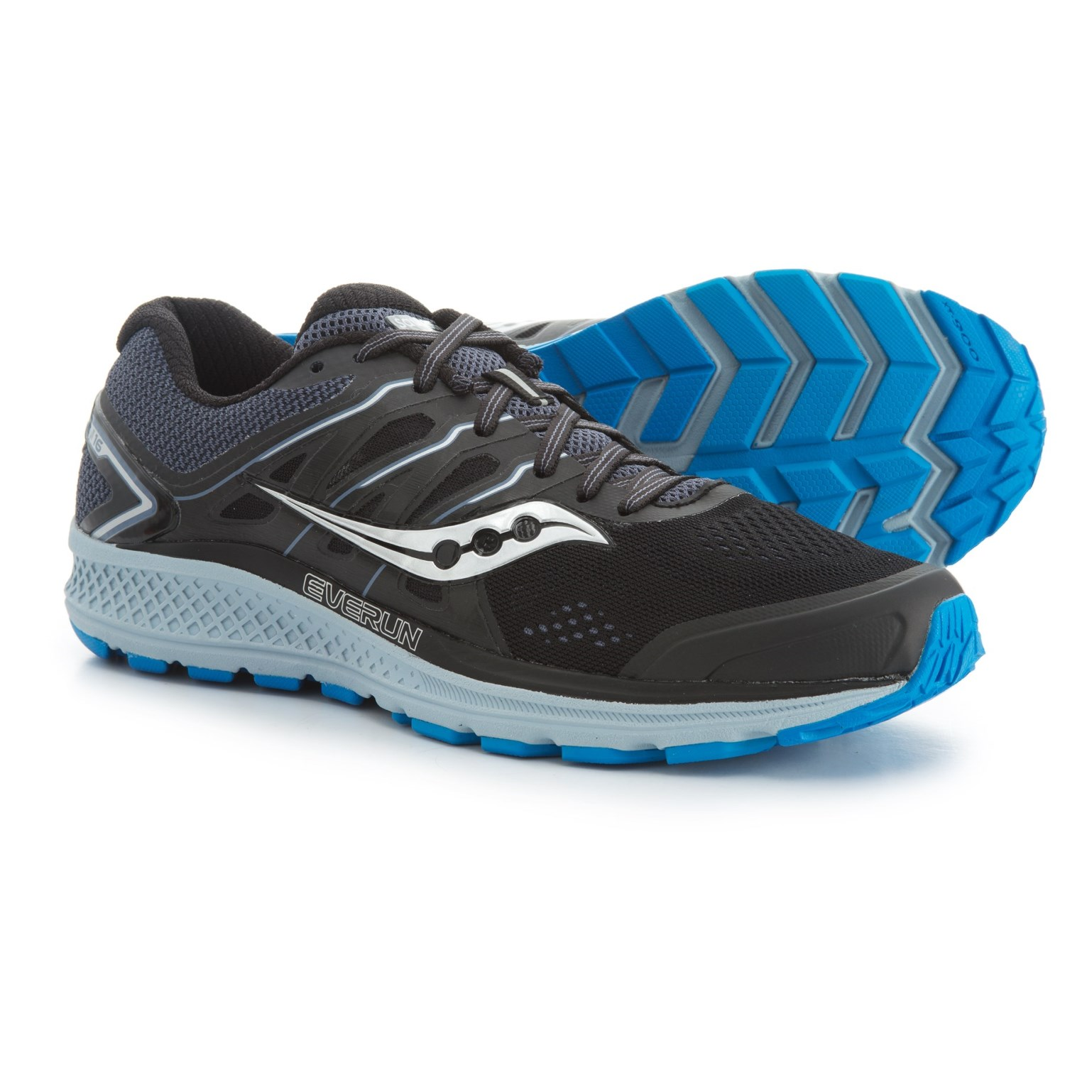 f1752bfc453e Saucony Omni 16 Running Shoes (For Men) in Black Grey Blue