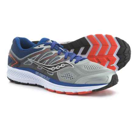 Saucony Omni 16 Running Shoes (For Men) in Grey/Navy/Orange - Closeouts