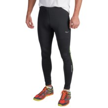 Saucony Omni LX Running Tights (For Men) in Black/Vizipro Slime - Closeouts