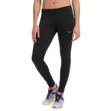 Saucony Omni LX Running Tights - Thermal (For Women) in Black/Black - Closeouts