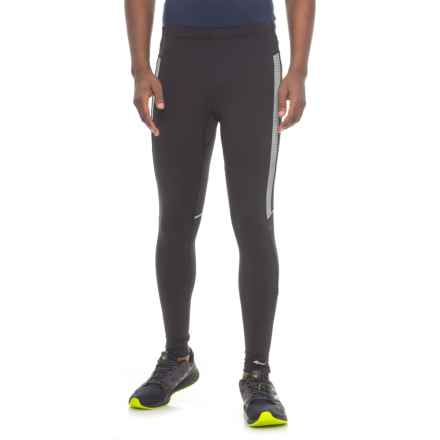 Saucony Omni LX Tights - UPF 50+ (For Men) in Black/Black - Closeouts