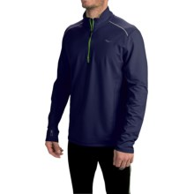Saucony Omni Shirt - Zip Neck, Long Sleeve (For Men) in Midnight - Closeouts