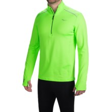 Saucony Omni Shirt - Zip Neck, Long Sleeve (For Men) in Vizipro Slime - Closeouts