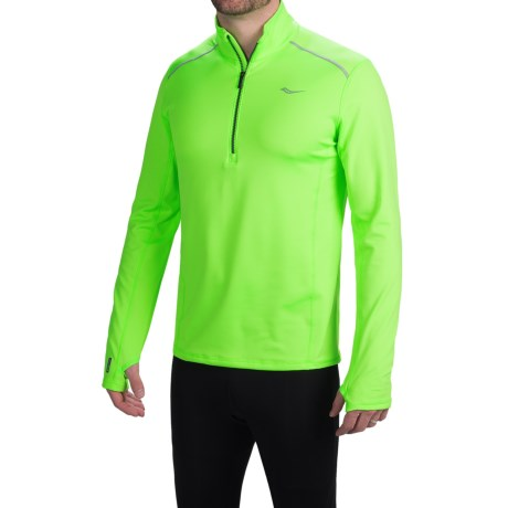 Saucony Omni Shirt Zip Neck, Long Sleeve (For Men)