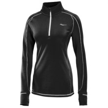 Saucony Omni Shirt - Zip Neck, Long Sleeve (For Women) in Black/White - Closeouts