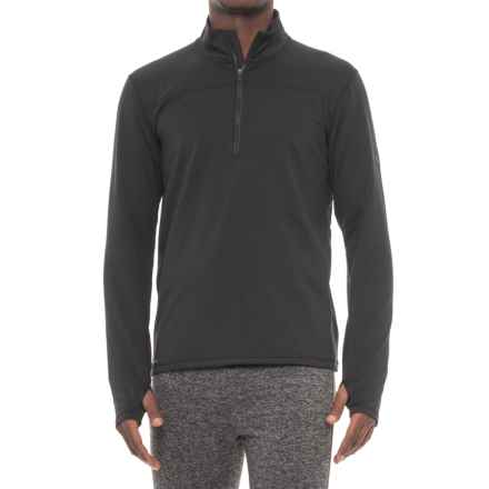 Saucony Omni Sportop Shirt - Zip Neck, Long Sleeve (For Men) in Black - Closeouts