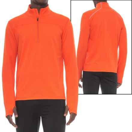 Saucony Omni Sportop Shirt - Zip Neck, Long Sleeve (For Men) in Persimmon - Closeouts