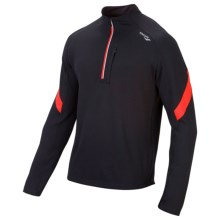 Saucony Optimal Sport Shirt - Long Sleeve (For Men) in Black/Strongred - Closeouts