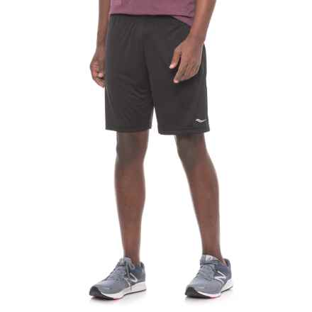 Saucony Outkickin' Knit Shorts (For Men) in Black - Closeouts