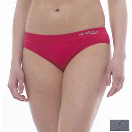 Saucony Panties - 2-Pack, Bikini Briefs (For Women) in Smoke Space Dye/Snozz Berry - Closeouts