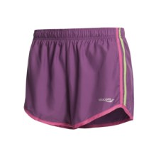 Saucony P.E. Revival Shorts (For Women) in Amethyst/Hibiscus - Closeouts