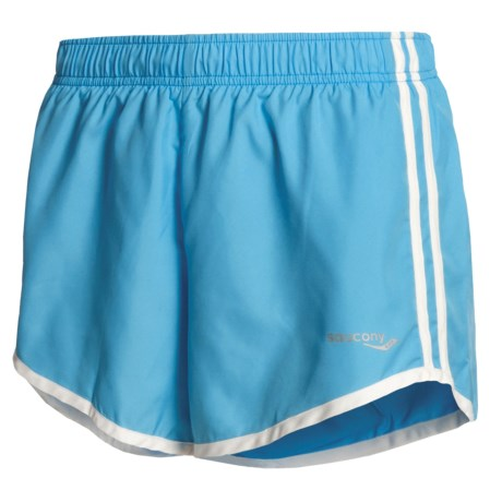 Saucony P.E. Revival Shorts (For Women) in Aqua/White