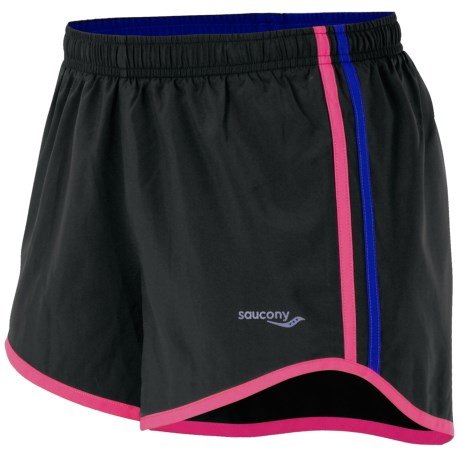 Saucony P.E. Shorts (For Women) in Black/Berry Crush